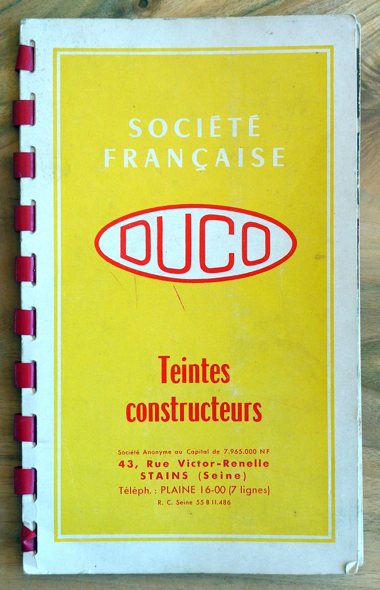 Duco Paint Sample book 1960 original vintage