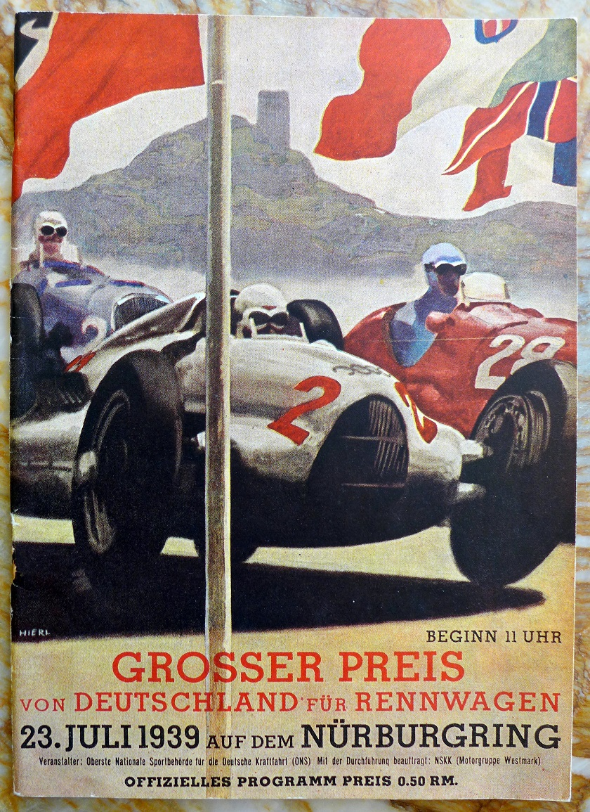 German Grand Prix 1939 original vintage auto race program