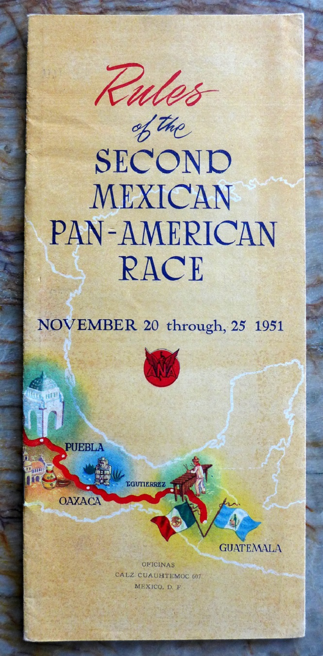 1951 Carrera Panamericana Rules original vintage booklet