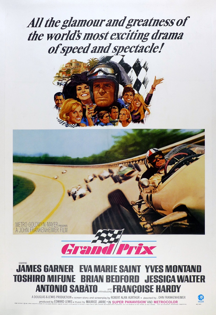 Grand Prix original vintage racing movie poster