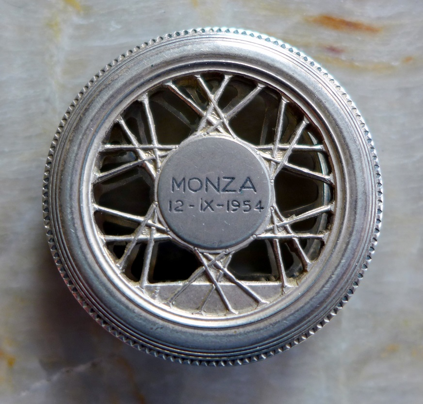 FMI Monza, engraved original vintage paper holder
