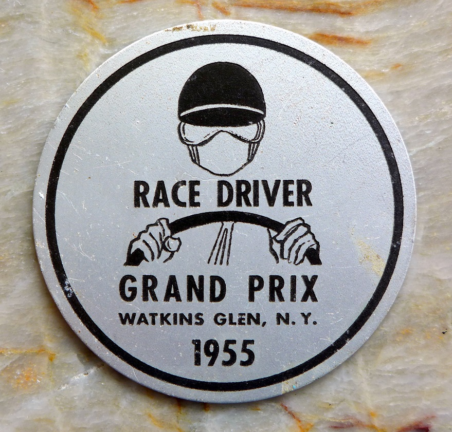 1955 Watkins Glen Grand Prix driver placque