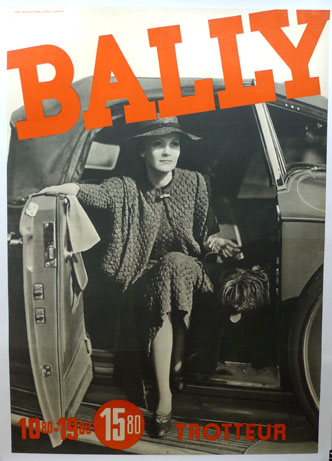 Bally original vintage advertising poster