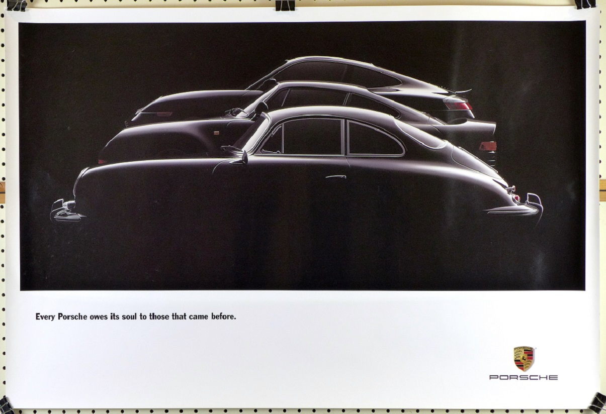 Every Porsche 356, 959, 911 Factory commemorative vintage auto advertising poster