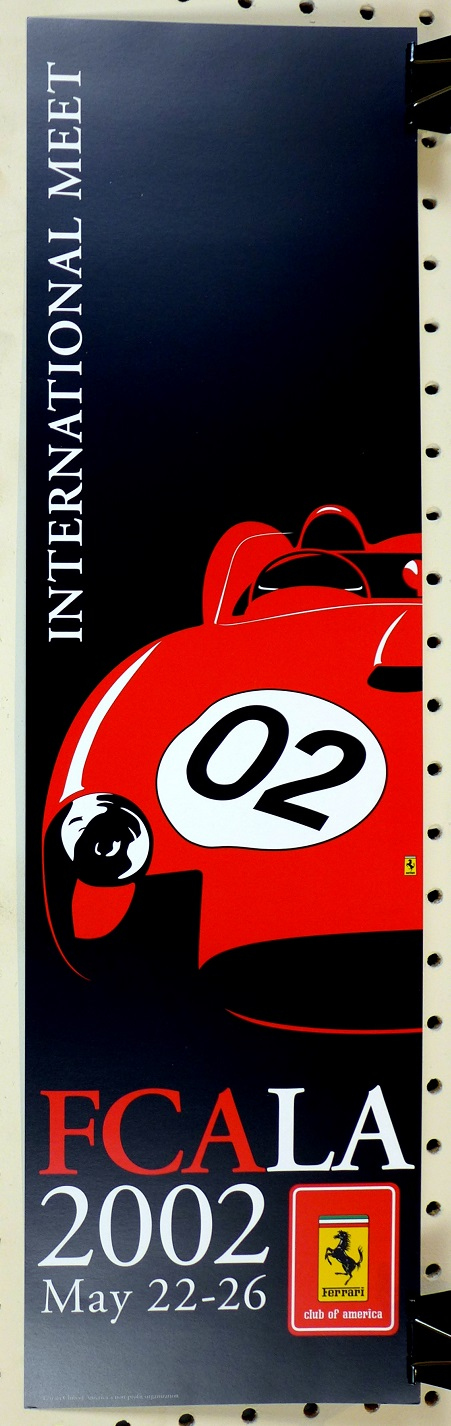 2002 Ferrari Club of America mini postger