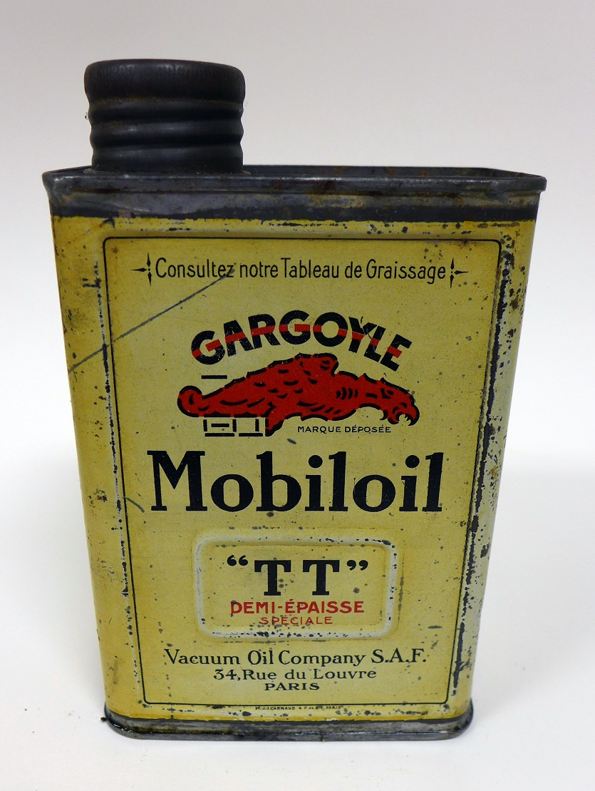 Gargoyle Mobiloil original vintage oil can