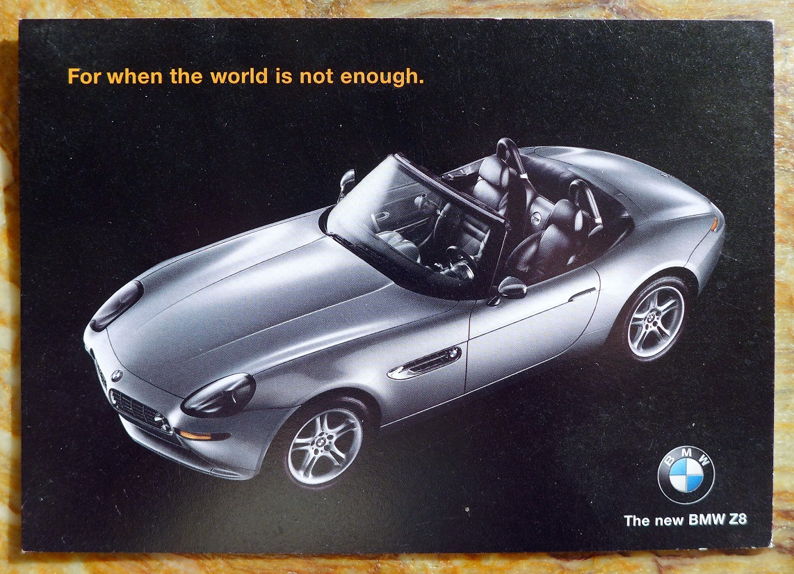 BMW Z8 post card