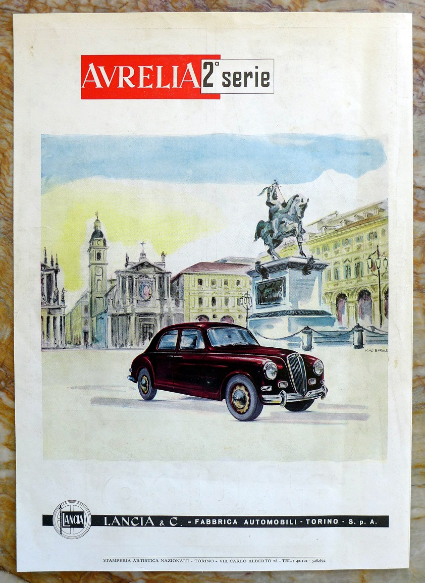 Lancia Aurelia original vintage auto advertisement