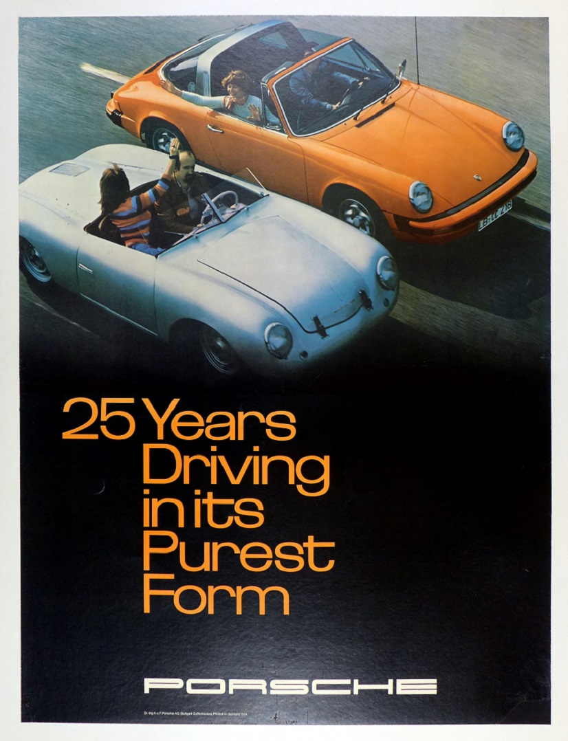 25 Years, Porsche Factory original vintage showroom poster