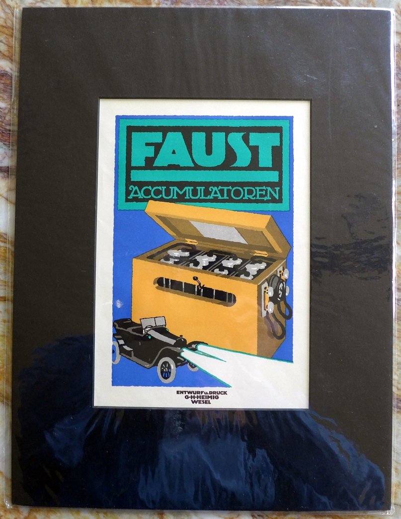 Faust batteries original vintage period ad