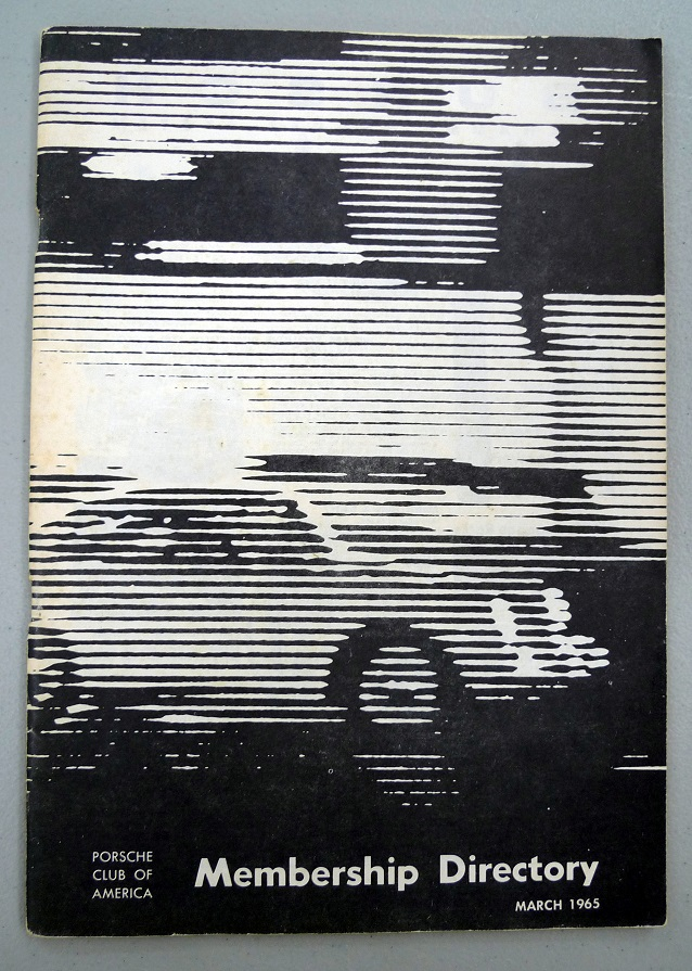 Porsche Club of America membership directory 1965