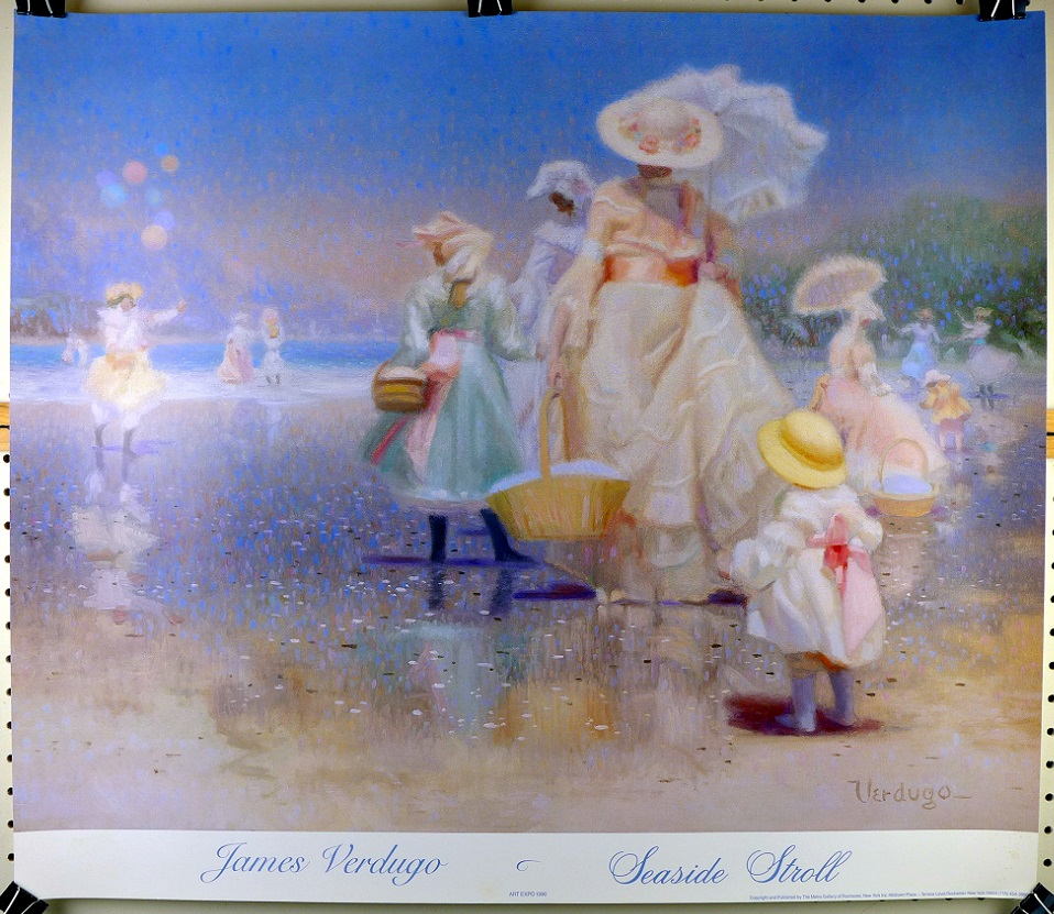 James Verdugo Seaside Stroll original vintage poster 1990