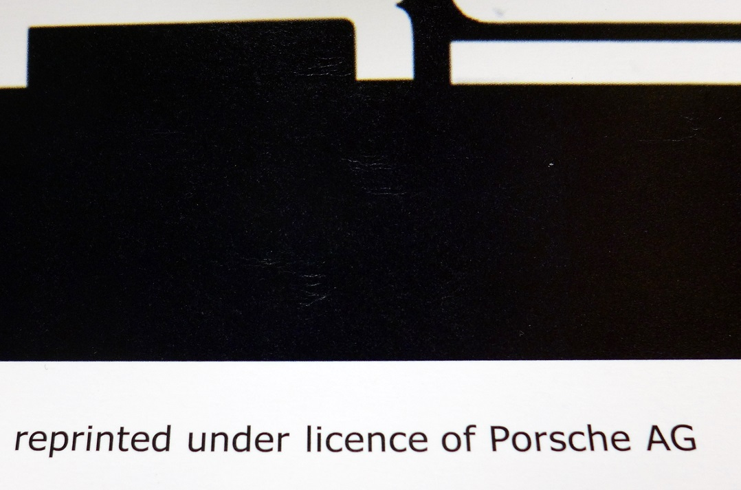 Carrera RS with specs Porsche Factory authorized reprint