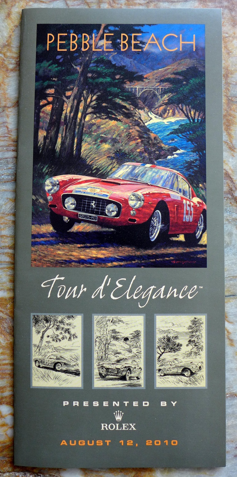 2010 Pebble Beach Tour d'Elegance original folder Barry Rowe