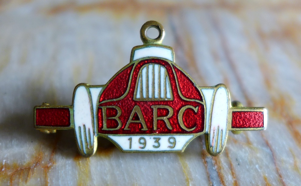 BARC 1939 original vintage pin