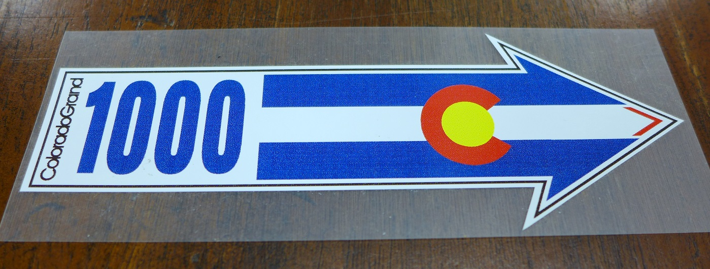 Colorado Grand original adhesive decal