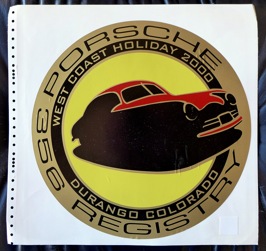 2000 West Coast Holiday original vintage car decal