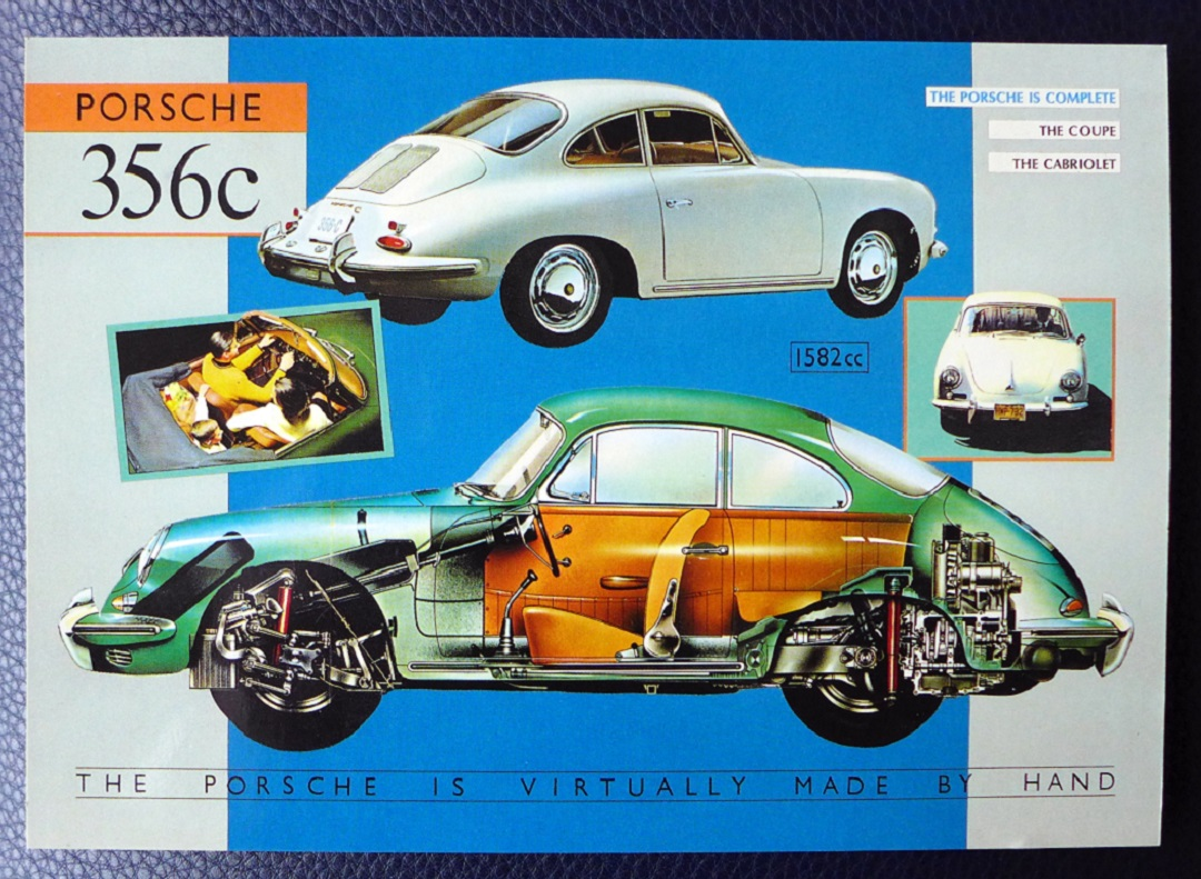 Porsche original vintage 356 C post card