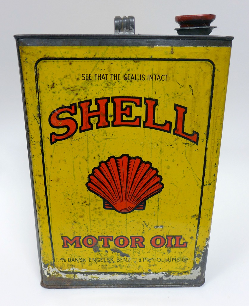 Shell Motor Oil original vintage 4 liter can