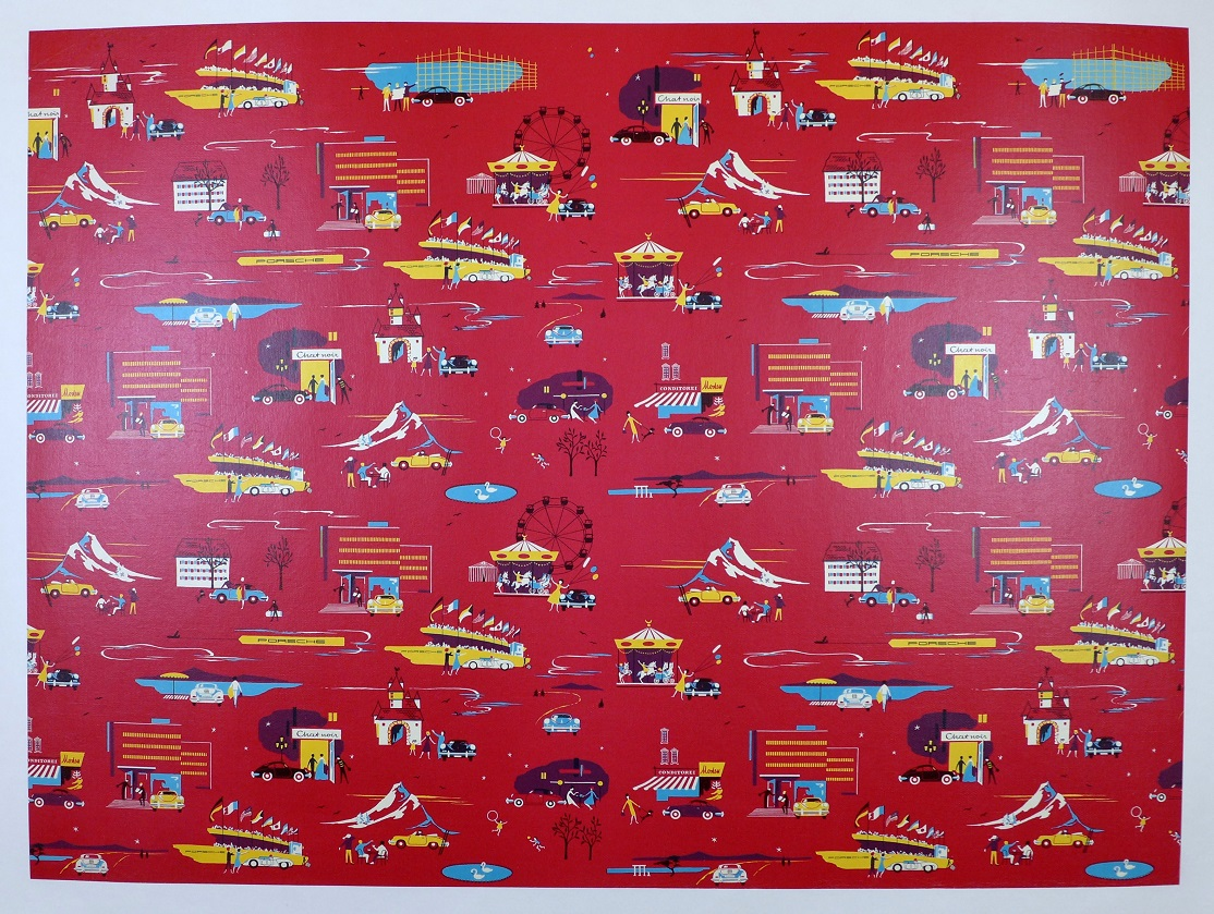 Porsche wrapping paper original vintage Factory RS-60, 356 B