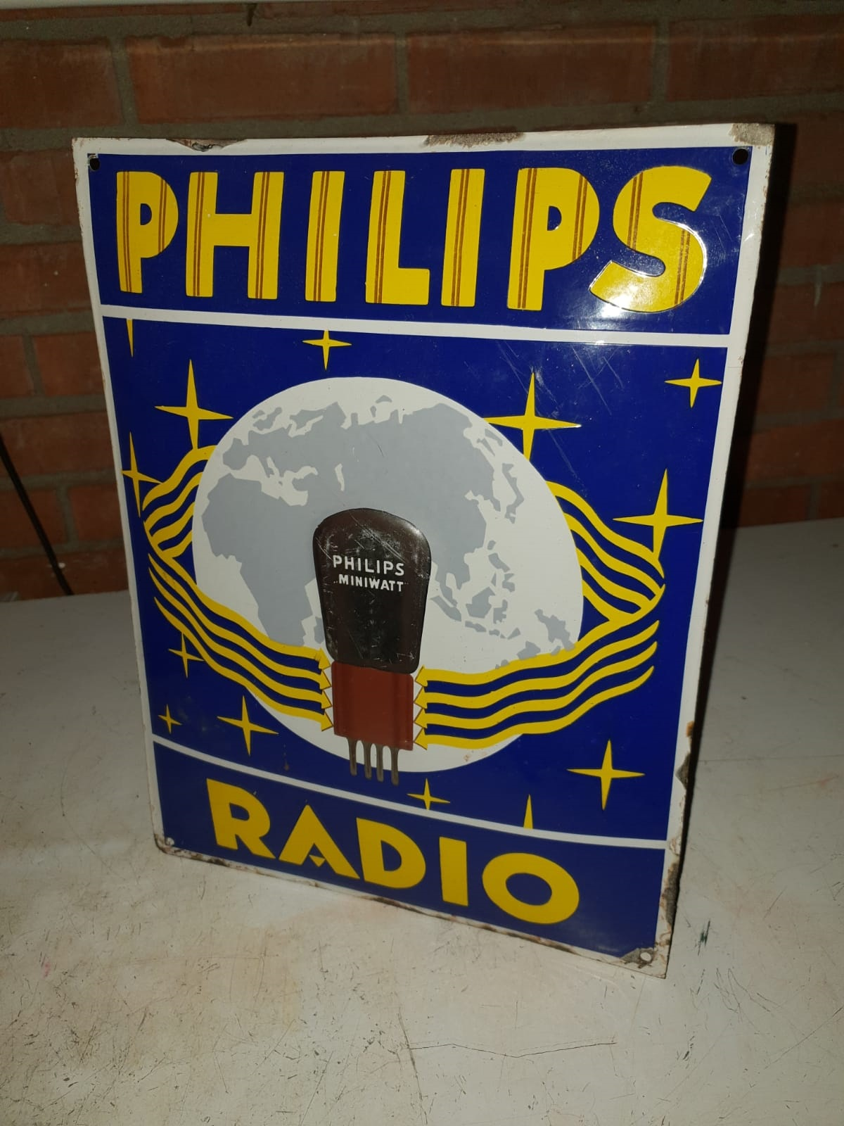 Philips Tube ename pillow sign WANTED