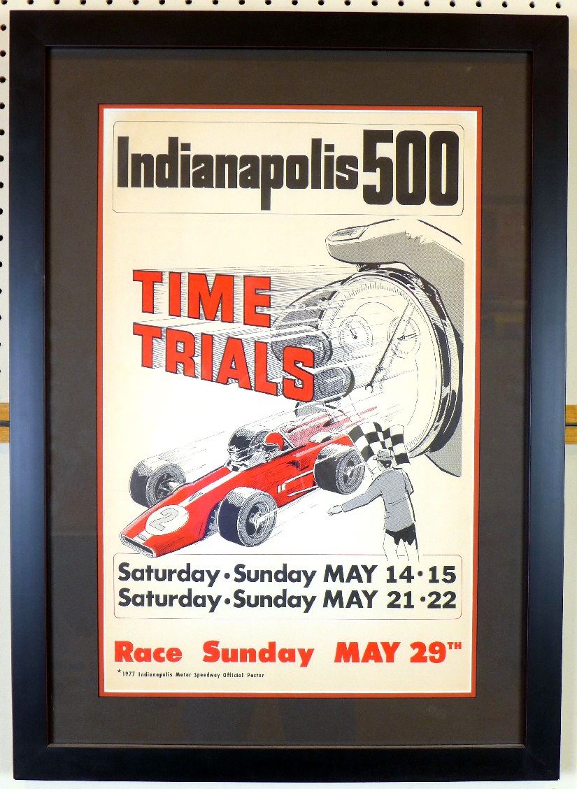 Indianapolis 500 Time Trials 1977 original vintage auto event poster