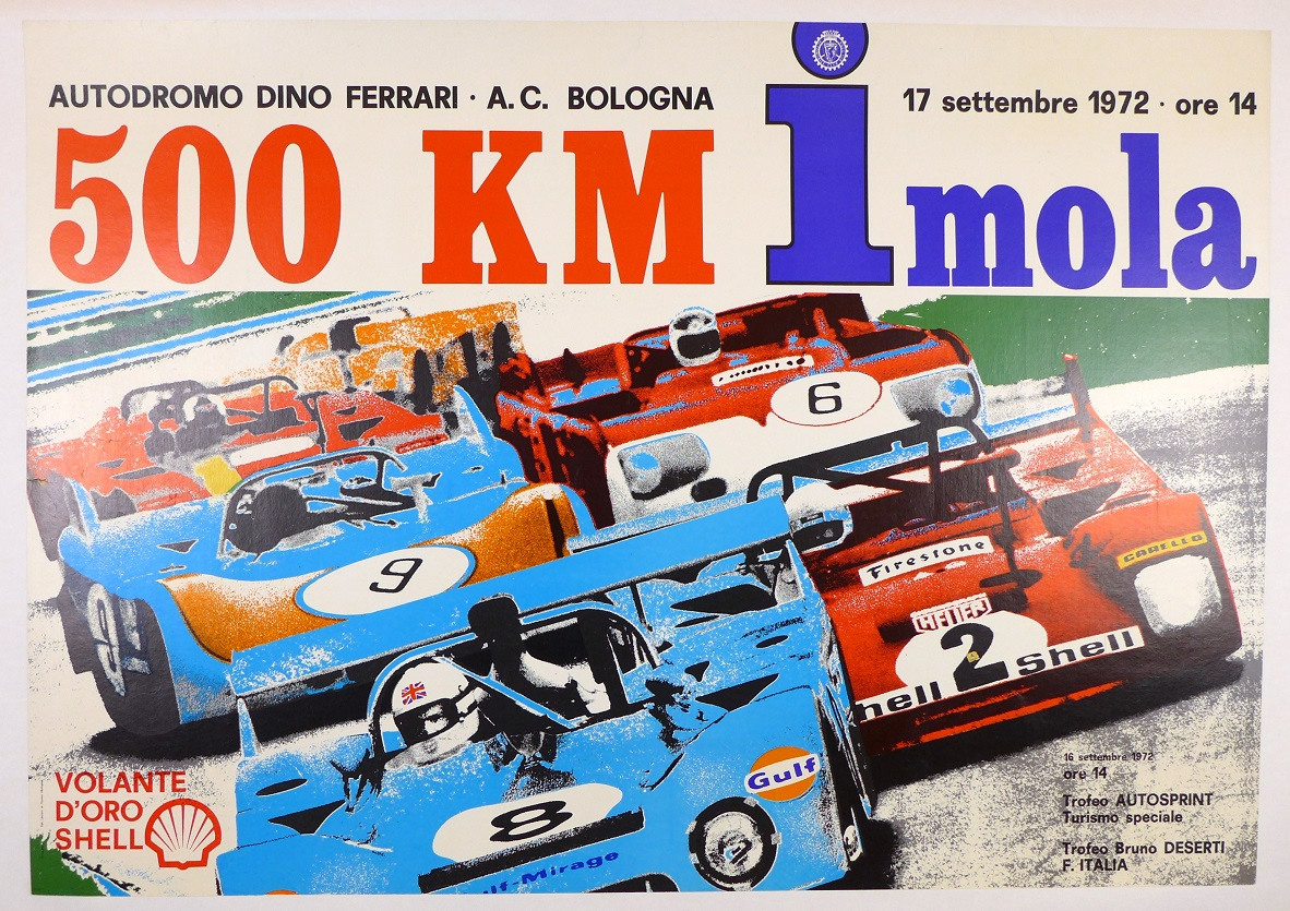 Imola, 1972 500Km original race event poster