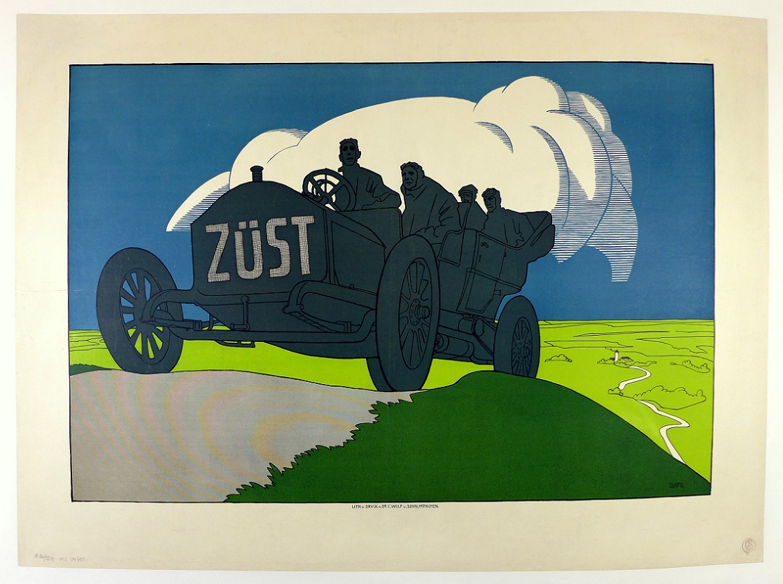 Zust original vintage auto advertising poster