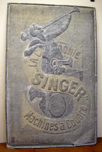 Singer logo original vintage sign by Cappiello