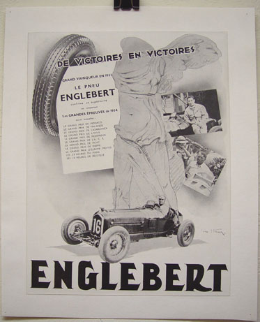 Englebert tires 1934 victories ad