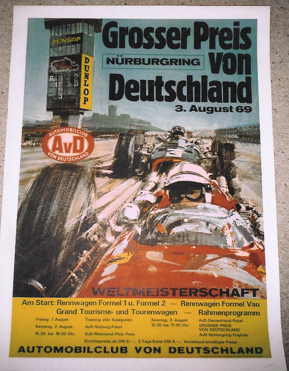 Grand Prix Germany 1969 event poster