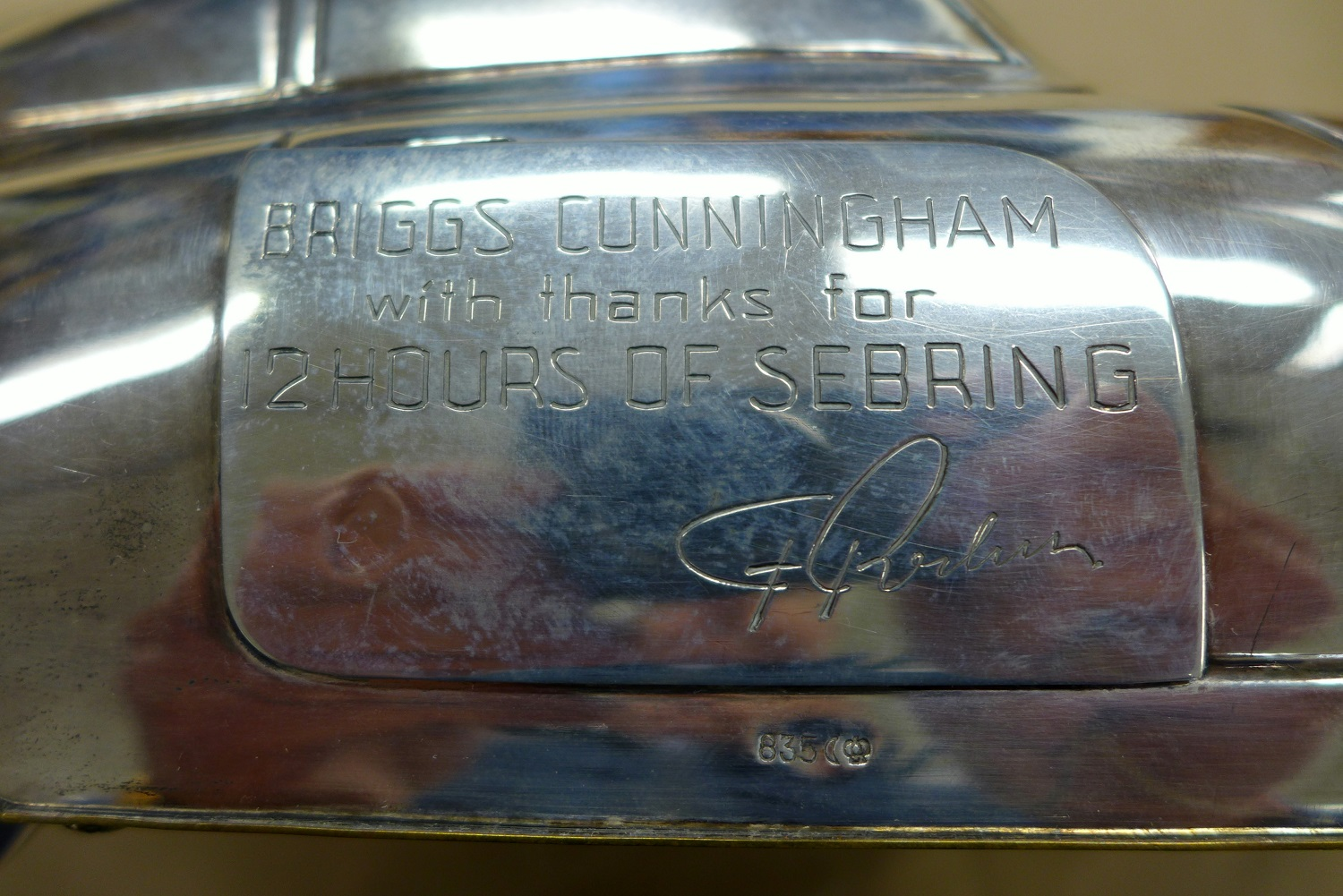 Briggs Cunningham Factory sterling silver presentation gift.