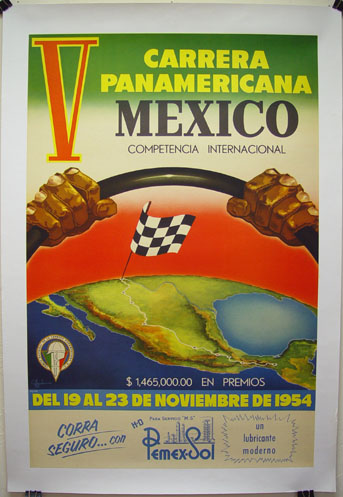 Carrera Panamericana event posters 1950-1954 - Wanted