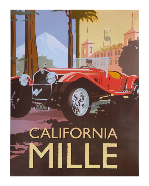California Mille 2004 event poster