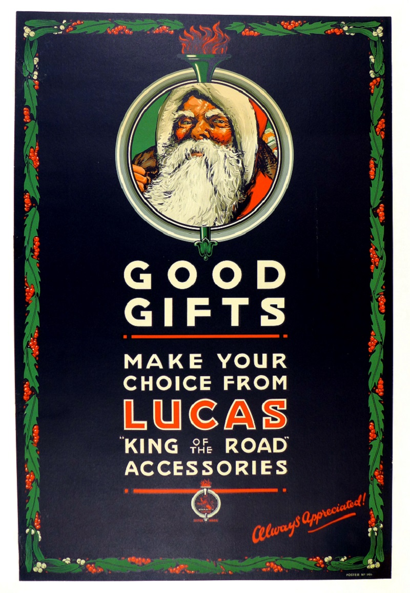 Good gifts...Lucas original vintage showroom poster