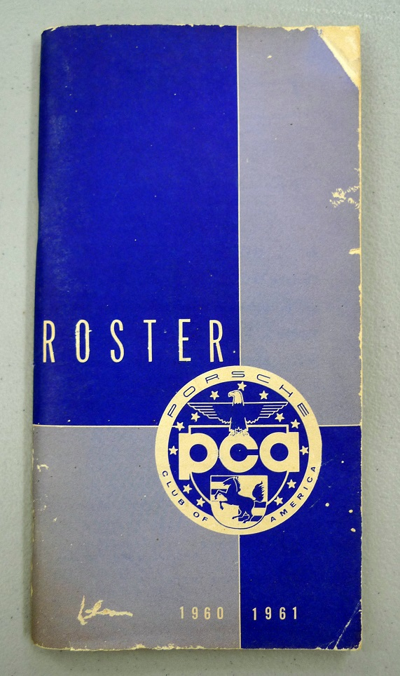 Porsche Club of America 1960-1961 membership directory