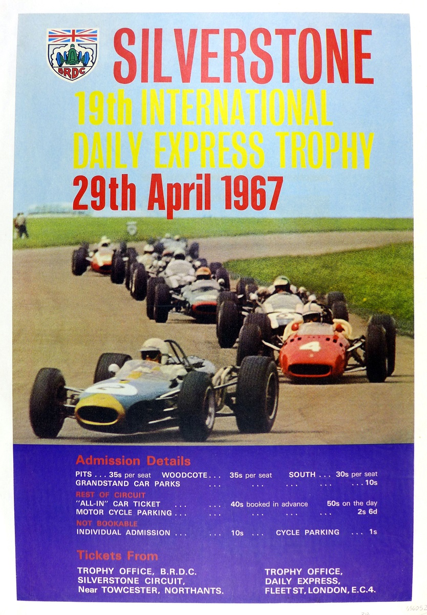 1967 Silverstone Daily Express race poster
