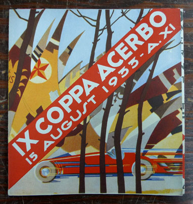 Coppa Acerbo 1933 race event folder