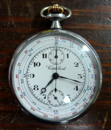 Cortibert pocket watch and stop watch