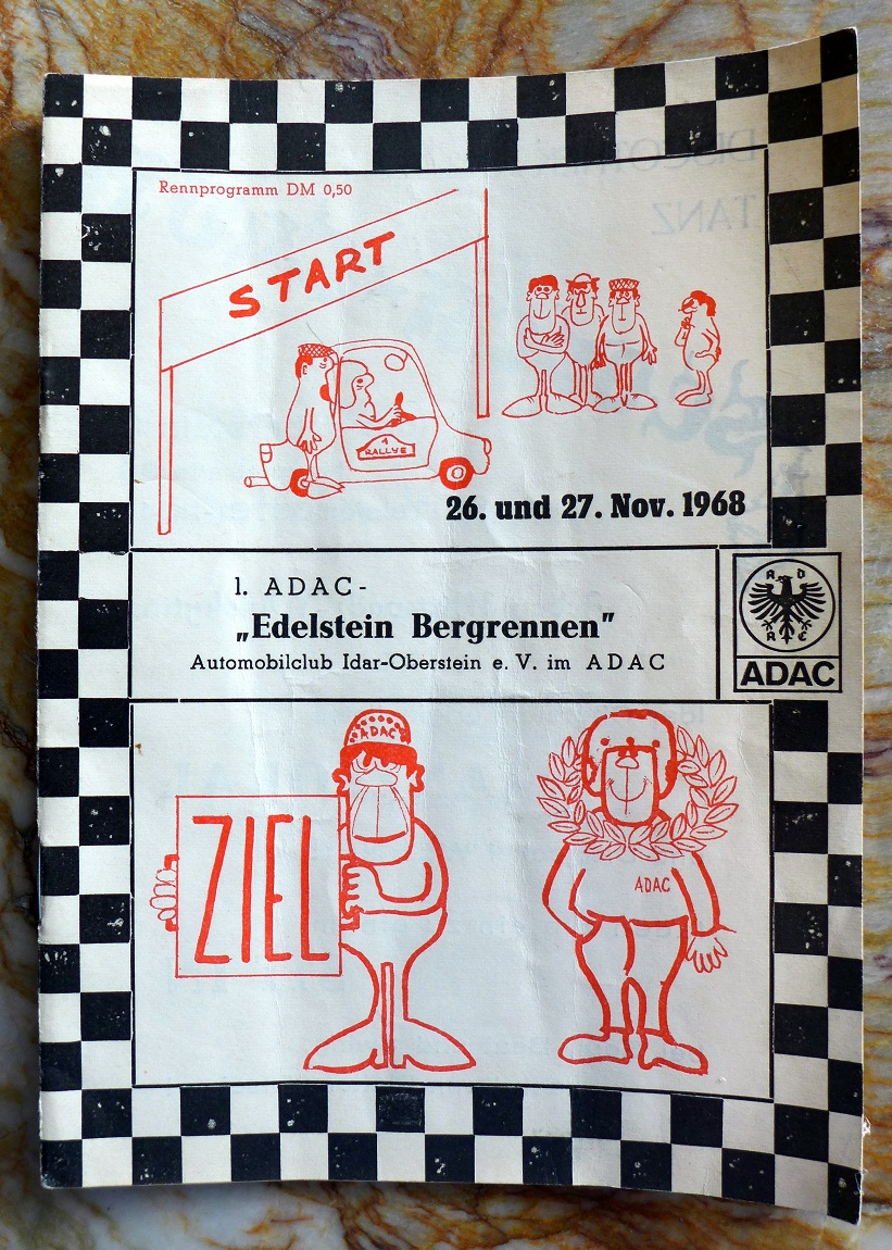 1st Edelstein Bergrennen 1968 race program