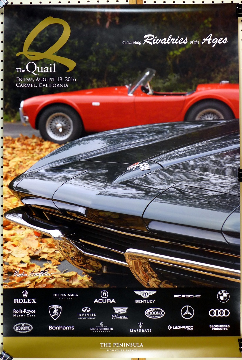 Quail 2016 event poster Corvette Cobra