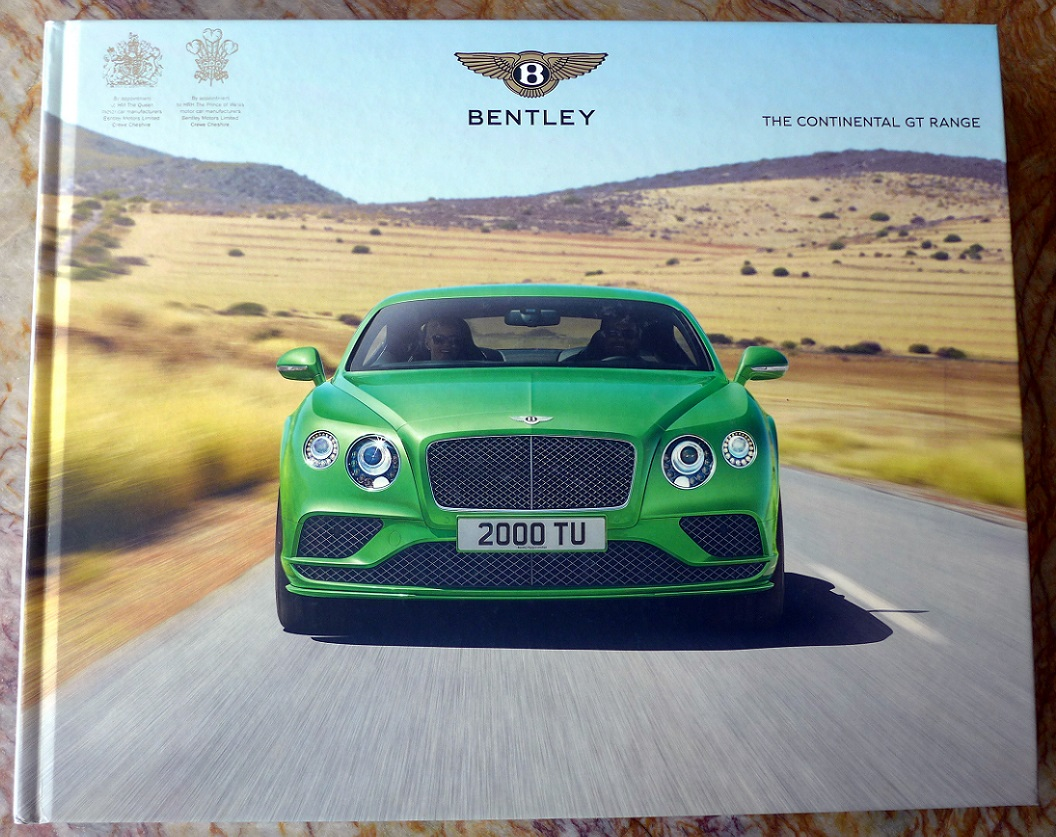 Bentley Continental GT Range original Factory book