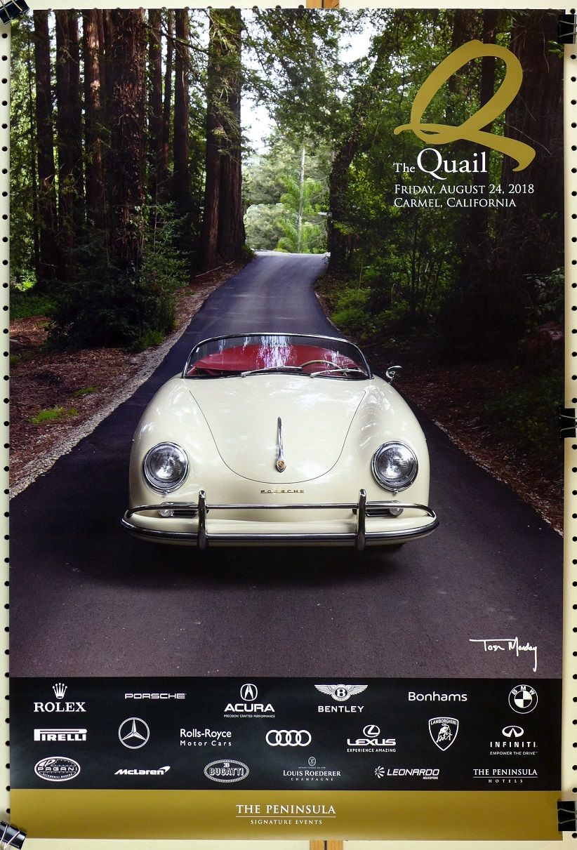The Quail 2018 original event poster Porsche Speedster