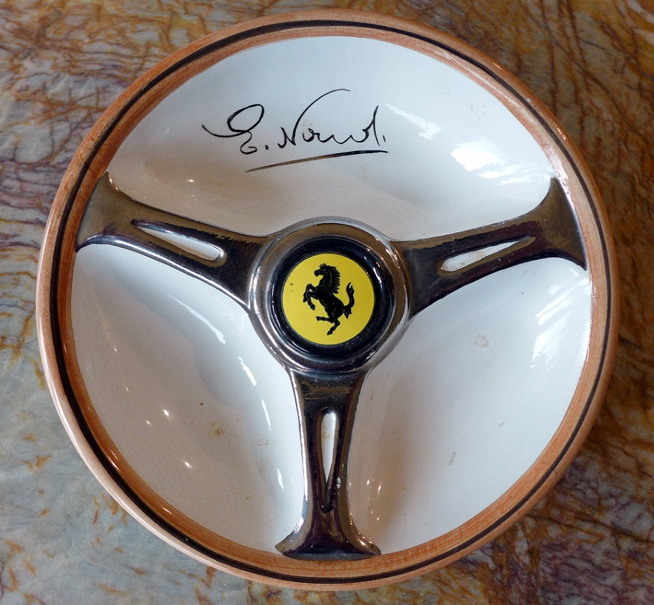 Nardi Ferrari ceramic ashtray original vintage