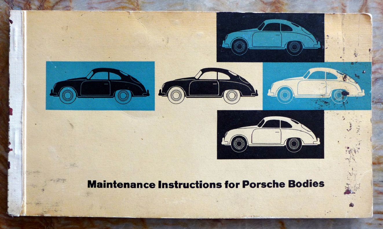 Reutter body book for Porsche original vintage