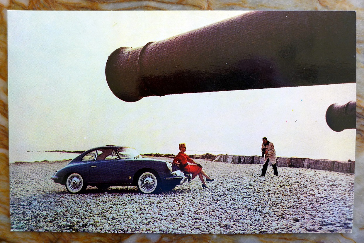 Porsche 356 B T-5 Coupe original vintage dealer postcard