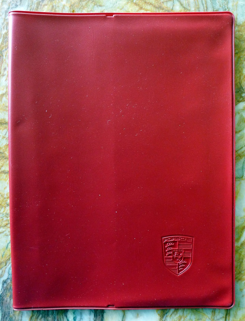 Porsche 356 B owners manual pouch NOS original