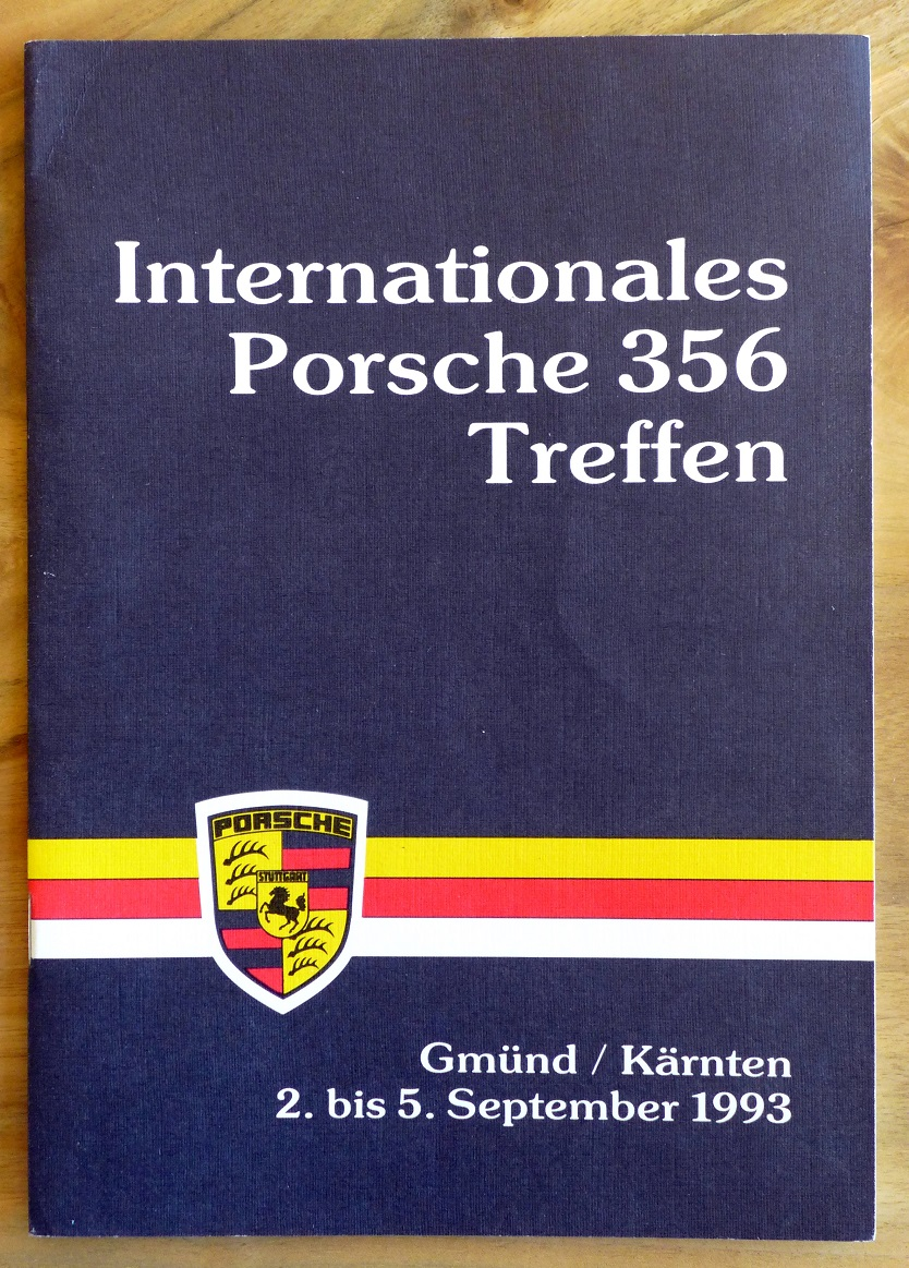 International Porsche 356 Treffen 1993 original vintage auto event program