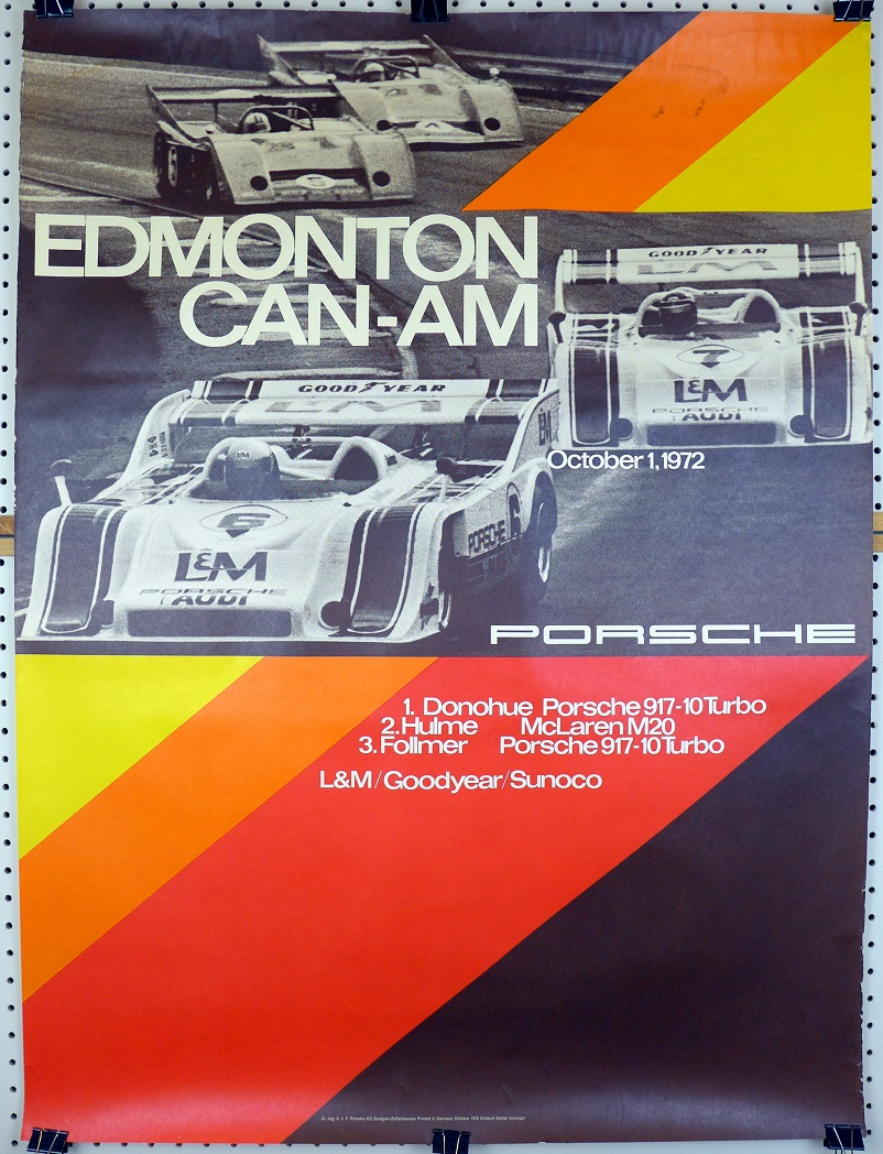 Edmonton CanAm 1972 Porsche Factory original vintage race event commemorative