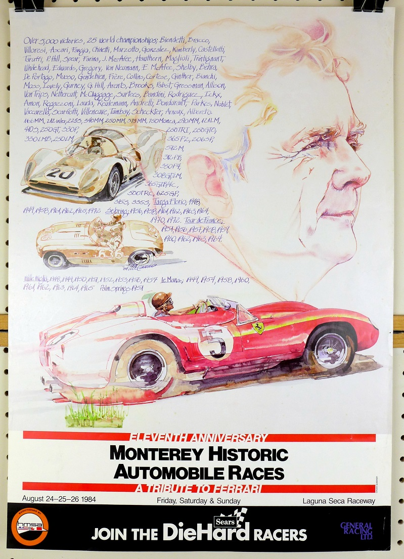 1984 Monterey Historics original vintage racing event poster